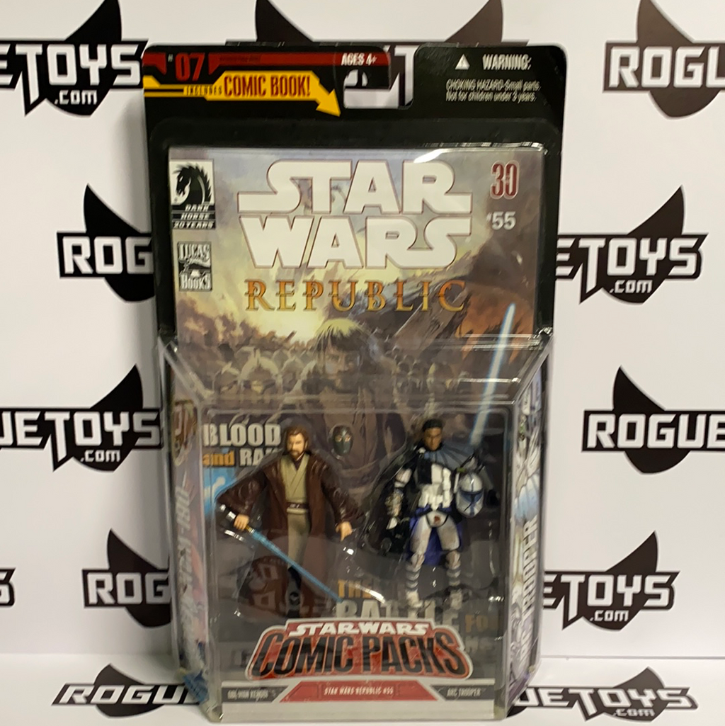 Hasbro Star Wars Republic Comic Packs Obi-Wan and Arc Trooper