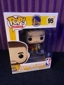 Funko POP! NBA Golden State Warriors Steph Curry Yellow Jersey The Bay