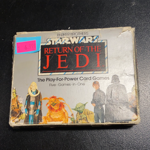 Parker Brothers Star Wars Return of the Jedi Play-For-Power Card Games