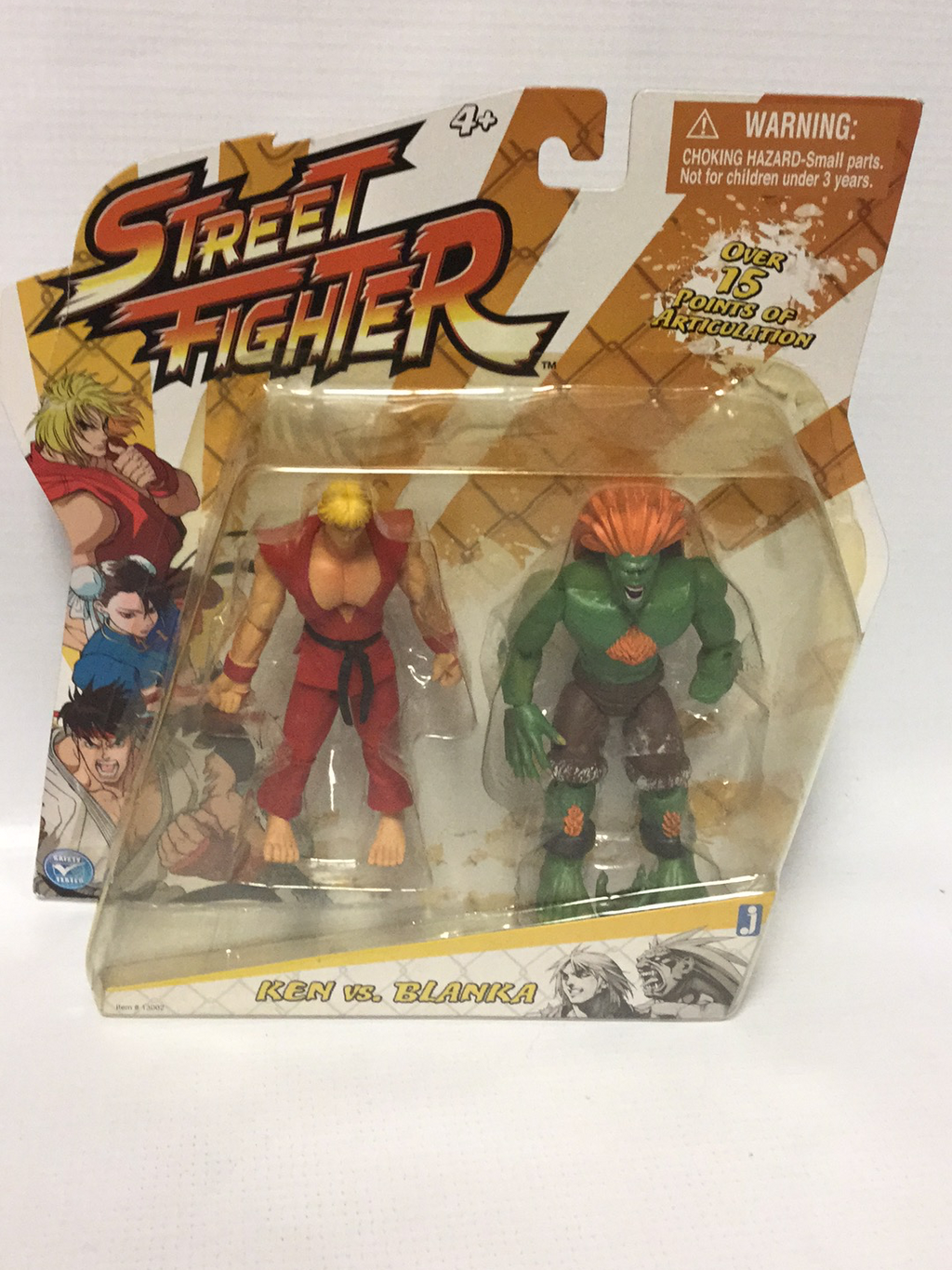 JAZWARES Street Fighter Ken Vs. Blanka Two-Pack