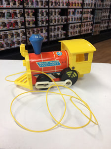 Fisher Price Toot Toot pull toy train (1964)