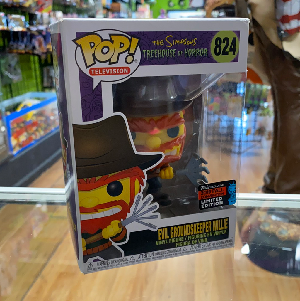 Funko POP! The Simpsons Treehouse of Horror Evil Groundskeeper Willie 824 2019 Fall Con Exclusive