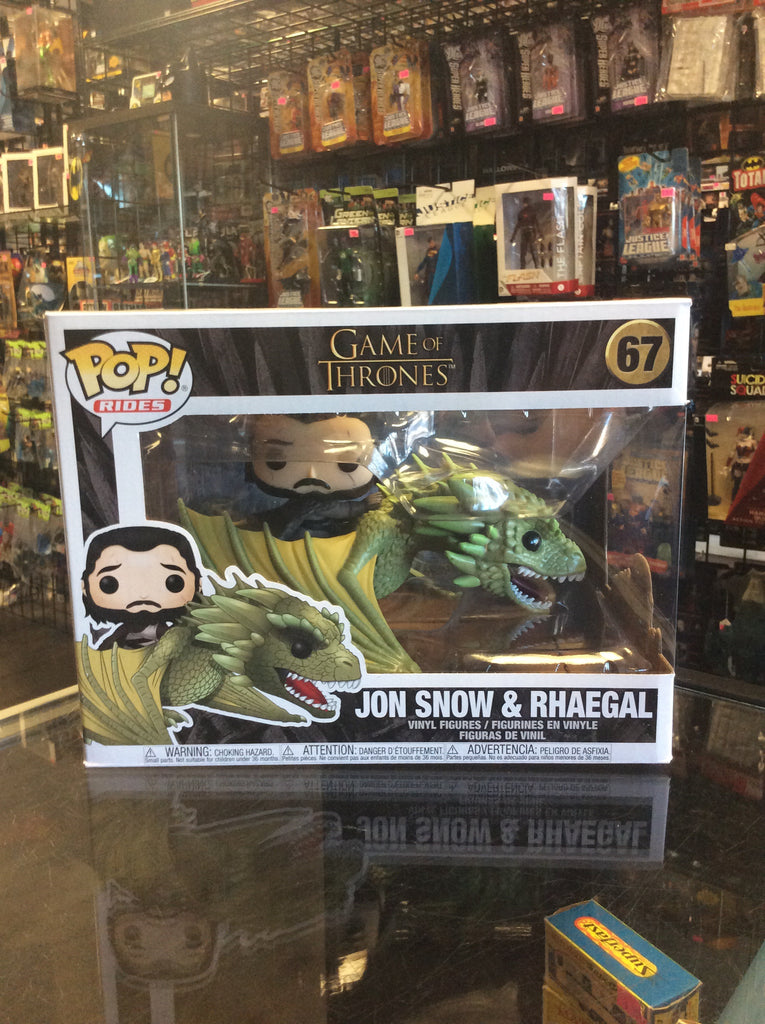 Funko Pop! Rides Game Of Thrones Jon Snow & Rhaegal