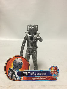 Doctor Who Cyberman With Cybergun Appeared in Earthshock