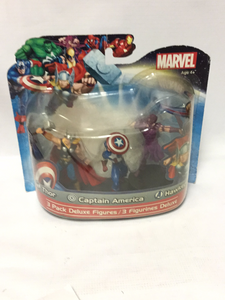 MONOGRAM Marvel 3 Pack Deluxe Figures - Thor, Captain America, & Hawkeye