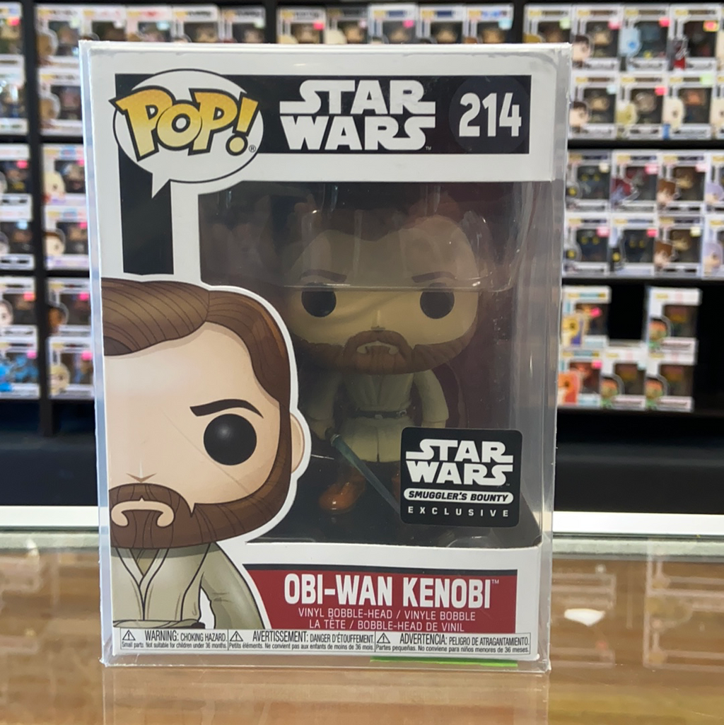 Funko Pop Star Wars Obi-Wan Kenobi #214 (Smugglers Bounty exclusive)