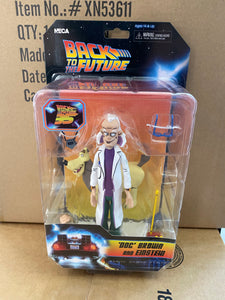 NECA Toony Back To The Future 35Th Anniversary Doc Brown and Einstein