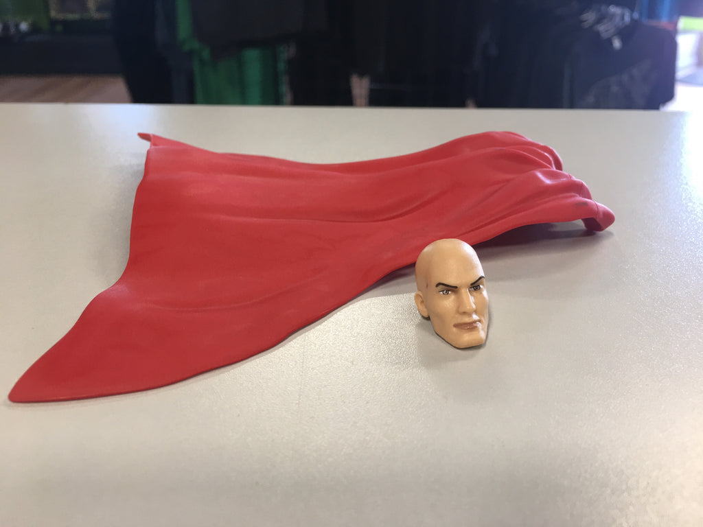 DC Multiverse BAF Lex Luthor Reg Head and Cape