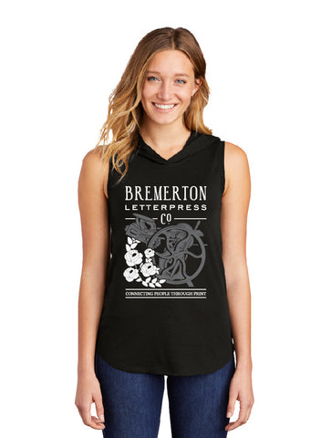 Bremerton Letterpress Co. · Ladies Hooded Tank