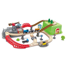 Load image into Gallery viewer, HAPE RAILWAY BUCKET BUILDER TRAIN SET