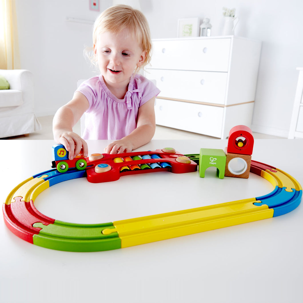 HAPE SENSORY RAILWAY FOR AGES 18mth+