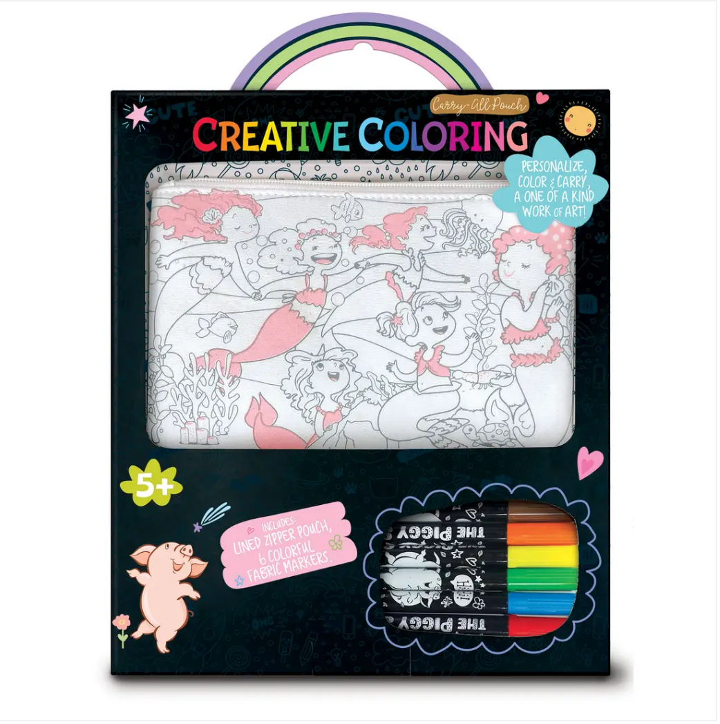 Creative Coloring: Carry All Pouch- Magical Mermaids