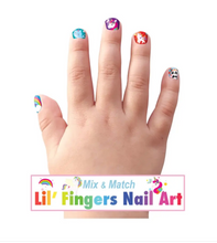 Load image into Gallery viewer, Lil' Fingers Nail Art- Unicorn Fantasy
