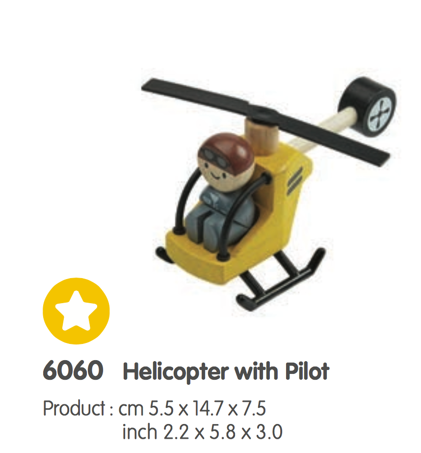HELICOPTER WITH FIGURE MINI FIGURE