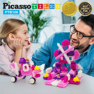 106 Pink Castle Bristle Shape Blocks