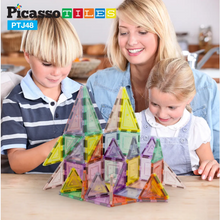 Load image into Gallery viewer, PicassoTiles 48pc Magnetic Building Tile Block Set