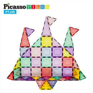 PicassoTiles 48pc Magnetic Building Tile Block Set