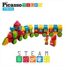 Load image into Gallery viewer, PicassoTiles®–103pc Bristle Alphabet and Number Set