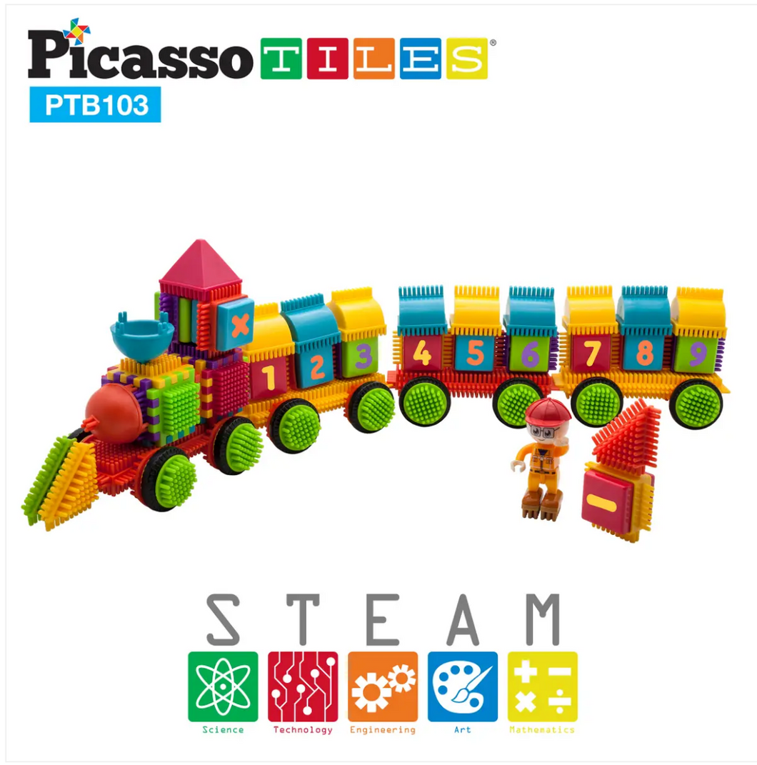 PicassoTiles®–103pc Bristle Alphabet and Number Set