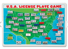 Load image into Gallery viewer, U.S.A. License Plate Game Travel Game