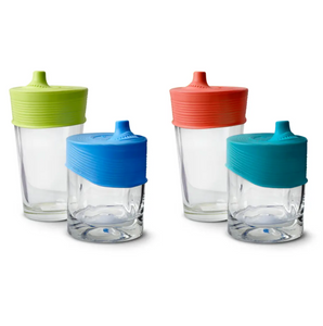 Stretchy Silicone Lids with Sippy Spout 2pk