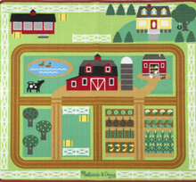 Load image into Gallery viewer, Round the Barnyard Farm Rug