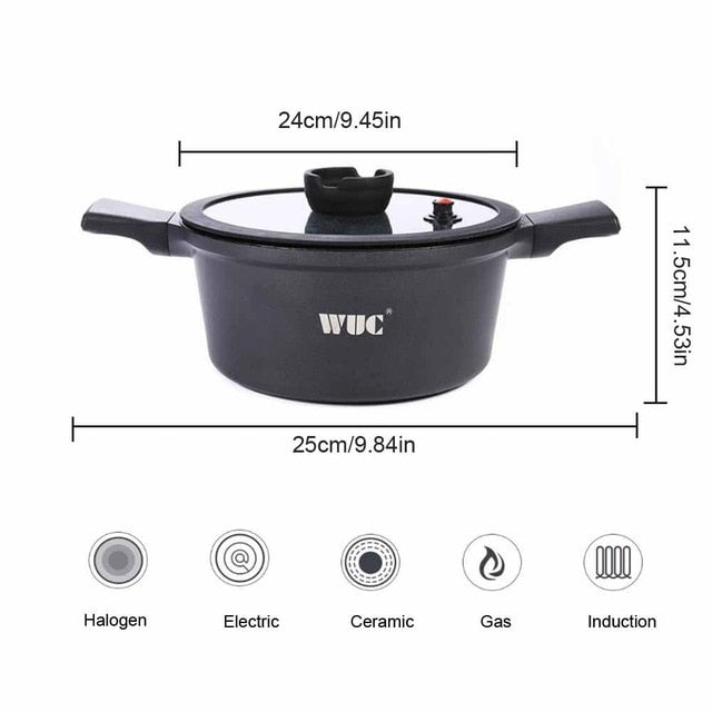 Saucepan with Silicone Sealing Lid