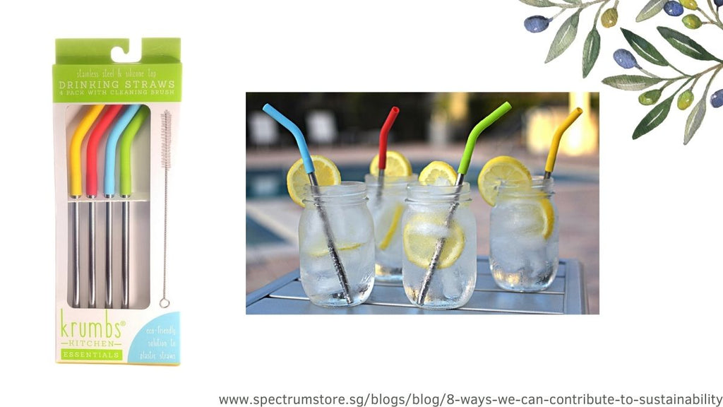 8 Ways We Can Contribute To Sustainability Spectrum Store Reusable Straws