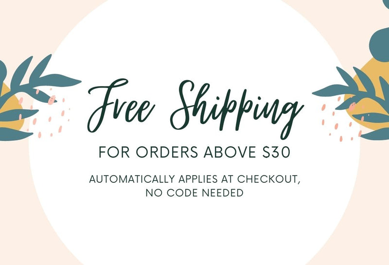 Free Shipping For Orders Above $30
