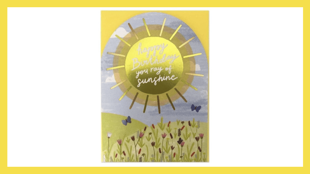 Pantone Colors of the Year for 2021 Ultimate Gray and Illuminating Happy Birthday You Ray Of Sunshine Card by Raspberry Blossom