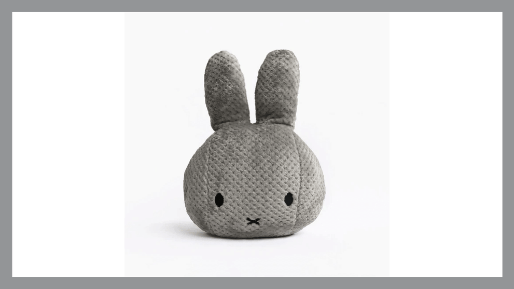 Pantone Colors of the Year for 2021 Ultimate Gray and Illuminating Miffy Head Cushions By OKCAN