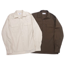 画像をギャラリービューアに読み込む, SEMI-OPEN COLLAR SH L/S (ORGANIC COTTON BACK SATIN)