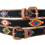 Load image into Gallery viewer, Guatemalan Polo Belt - Black