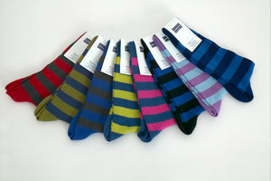 Men's Cotton Socks - Hoops