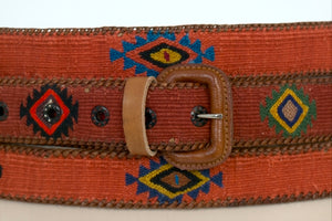 Guatemalan Leather Polo Belt - Terracotta