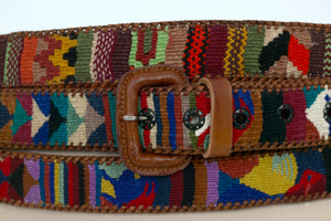 Guatemalan Leather Polo Belt - Tierra