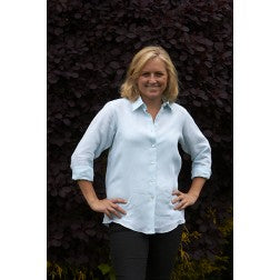 Ladies Linen Shirt - Aqua
