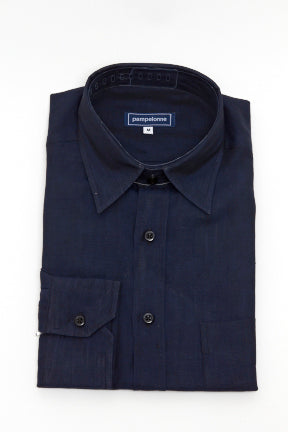 Men's Linen Shirt- Navy