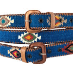 Load image into Gallery viewer, Guatemalan Polo Belt - Turquoise