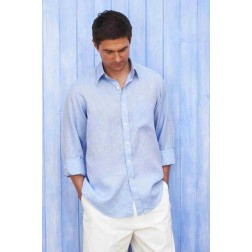 Men's Linen Shirt - Sky Blue