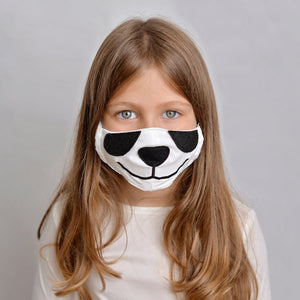 Open image in slideshow, Panda Face mask with filter pocket
