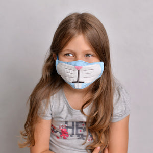 Open image in slideshow, Bunny Kids Face Mask with filter pockets