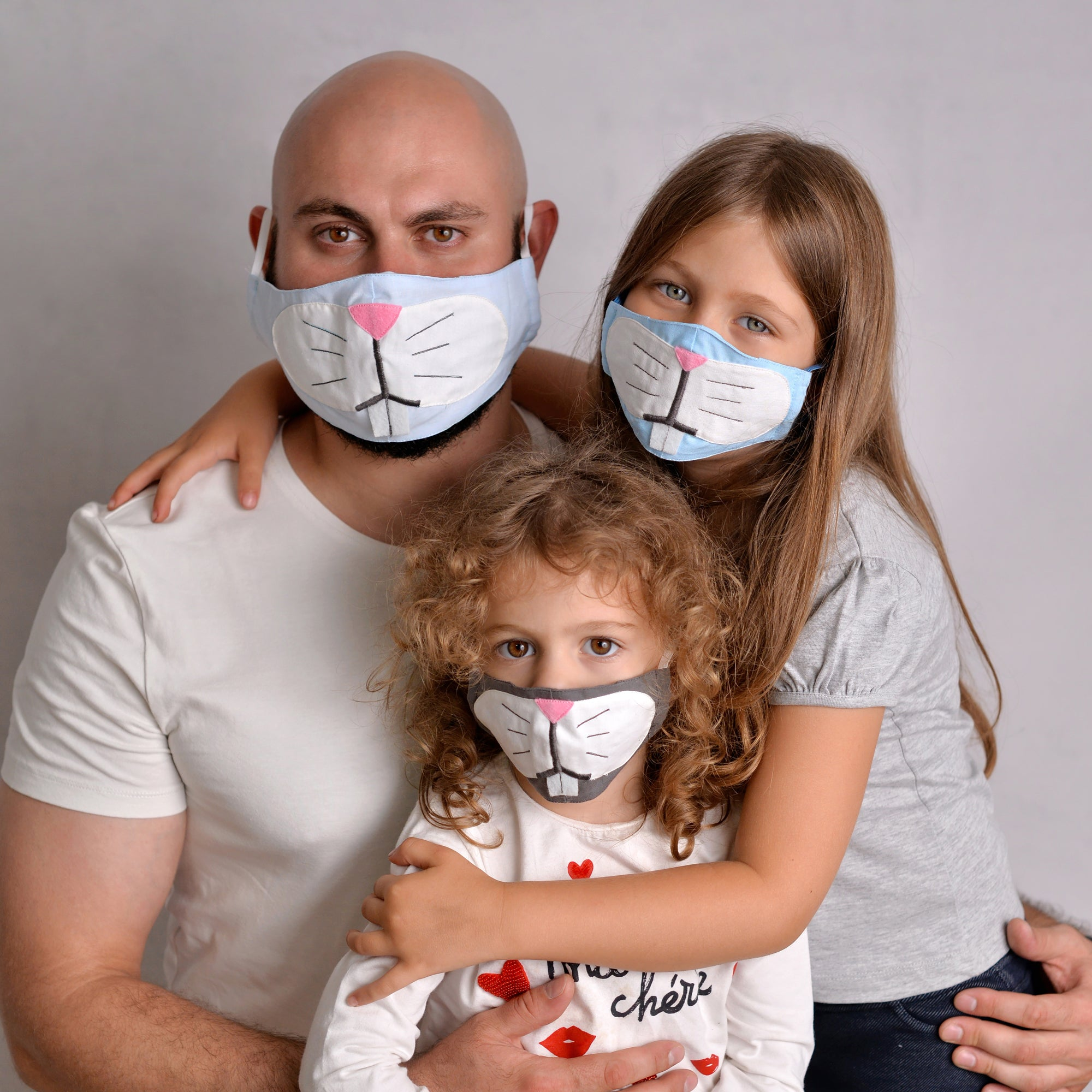 Bunny Face Masks for the Family - Set of 3