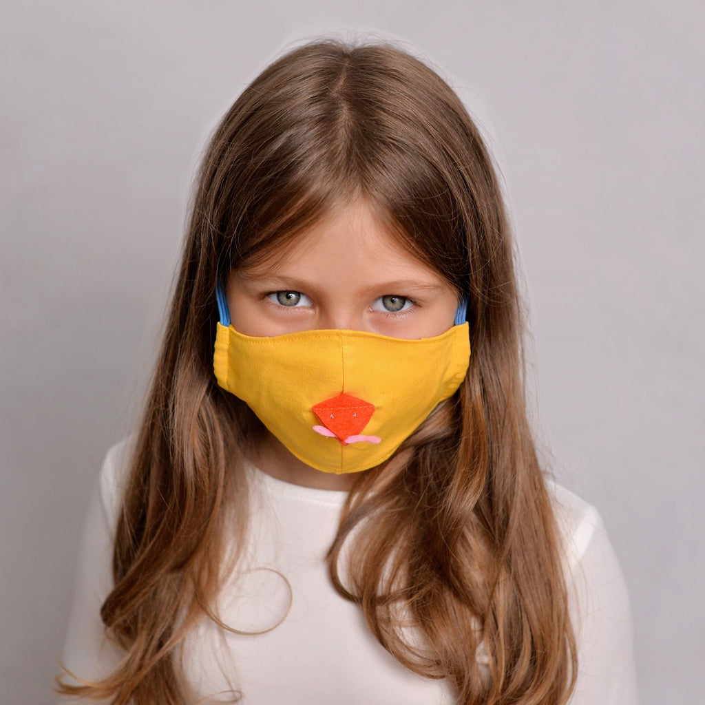 Baby Chicken Face Mask for Kids - filter pockets