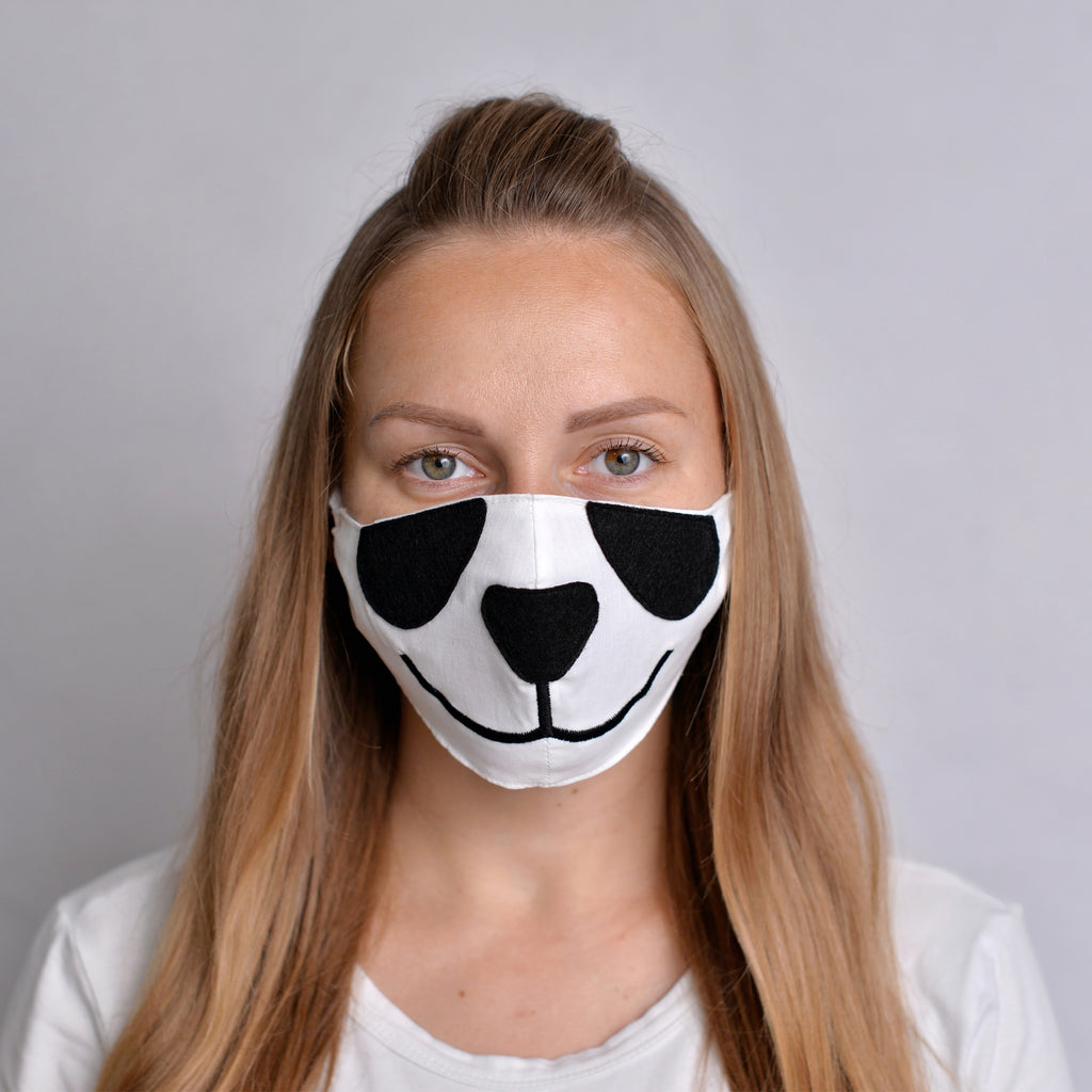 Panda Face mask with filter pocket