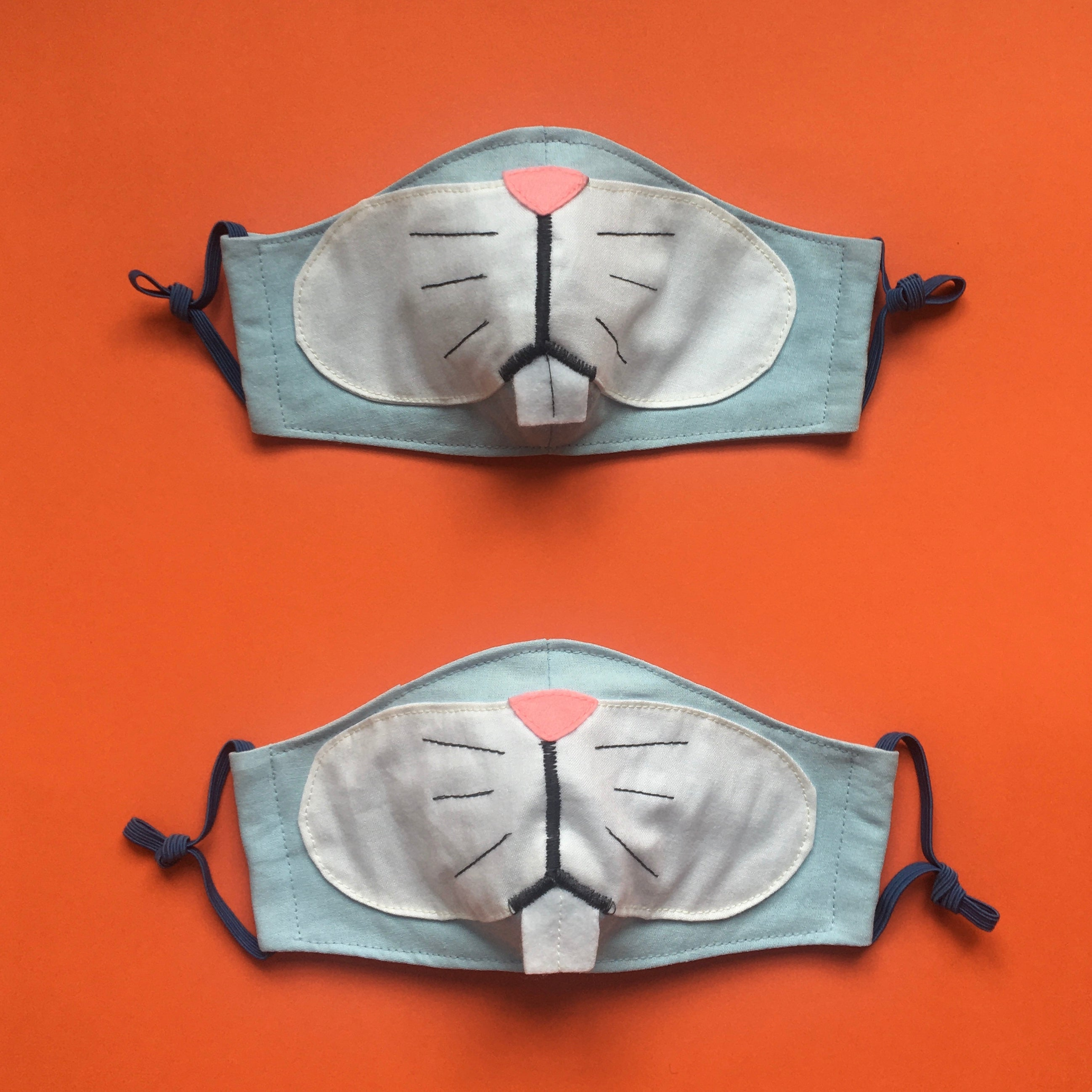Bunny Face Masks for Couple with pockets for filter