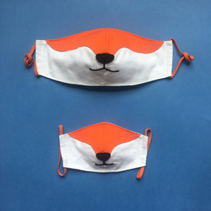 Set of 2 Fox masks for adult and kid