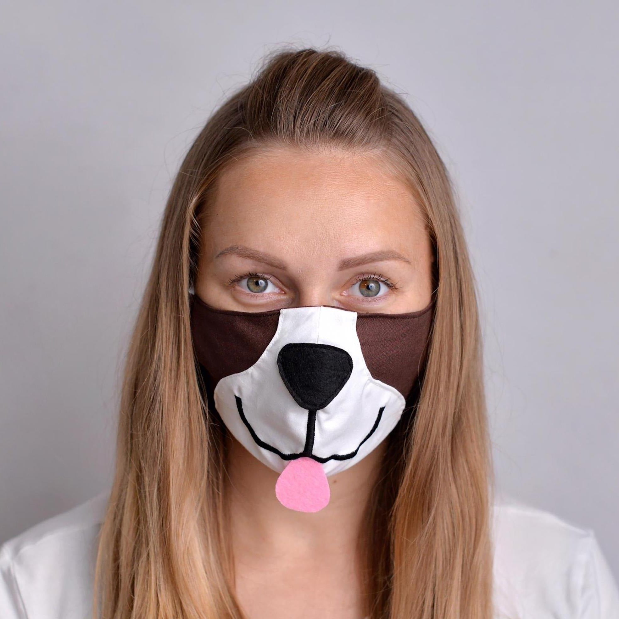 Puppy Face Mask with Filter pockets