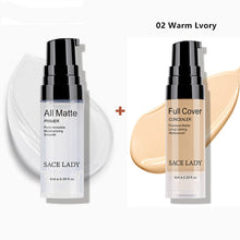 Load image into Gallery viewer, SACE LADY make up set 6ml Base Primer Full Cover Liquid Matte Concealer Makeup Face Corrector Waterproof Make Up Base Cosmetic