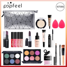 Load image into Gallery viewer, POPFEEL ALL IN ONE makeup kit (eyeshadow, lip gloss,lipstick,makeup brushes,eyebrow,concealer)with makeup bag